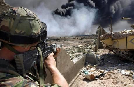 soldat och rök